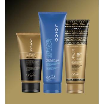 Kit Triplo Joico K-Pak e Moisture Cronograma Capilar Reconstrução Total e Máxima Hidratação (Shampoo + Condicionador + Máscara)