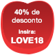 Promoção Dia dos Namorados 40%