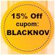 Promoção Black November - Selo 15% de desconto