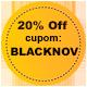 Promoção Black November - Selo 20% de desconto
