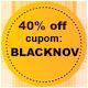 Promoção Black November - Selo 40% de desconto