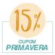 Promoção Primavera 2020 - Selo de 15% Off
