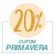 Promoção Primavera 2020 - Selo de 20% Off