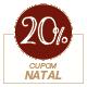Promoção Natal 2020 - Selo de 20% Off