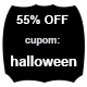 Promoção Halloween - 55% Off