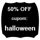 Promoção Halloween - 50% Off